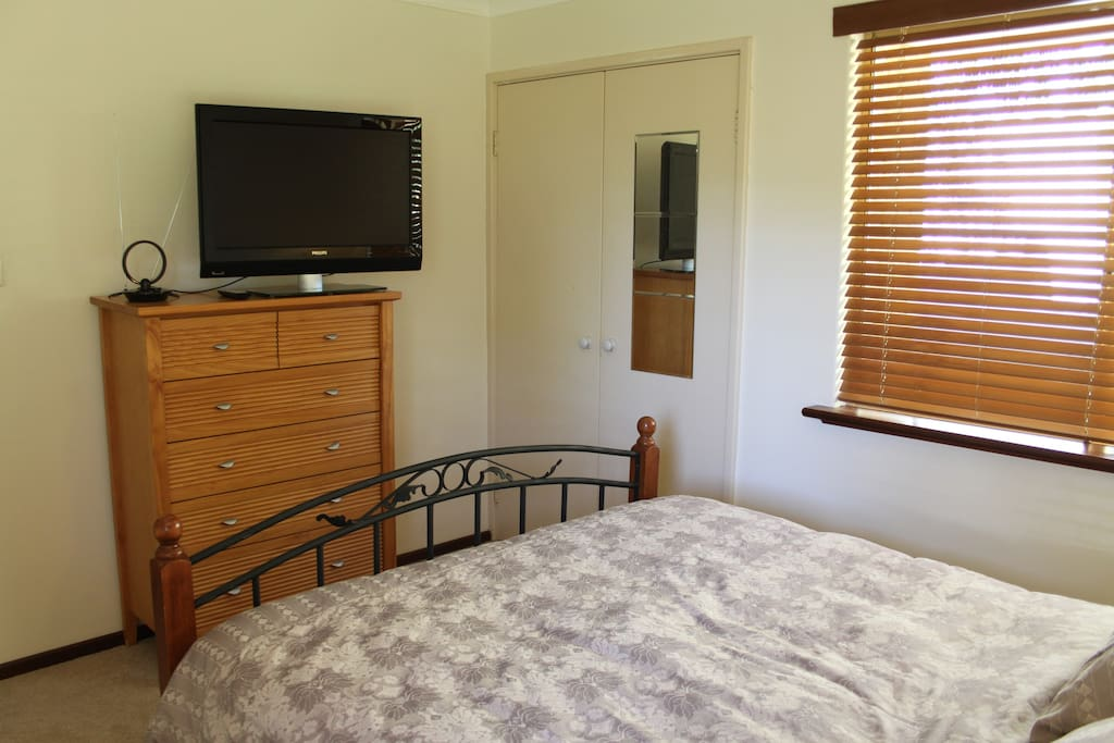 Bedroom includes free to air TV