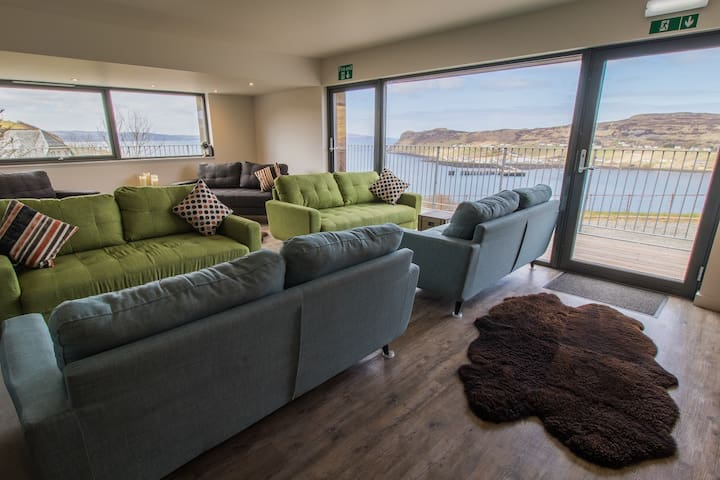 Comfortable lounge with excellent views