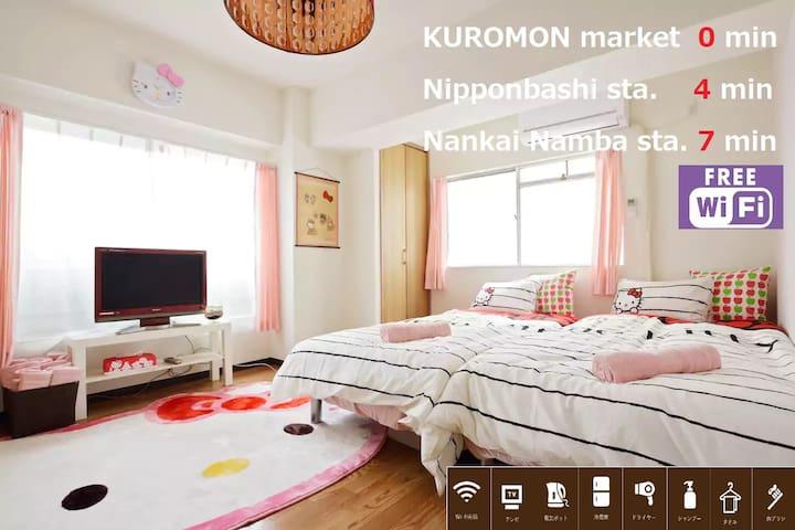 305 KUROMONmarket/구로몬시장/在黑门市场/WiFiFREE☆HelloKitty☆