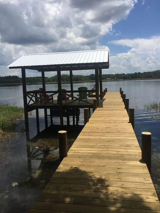 Come relax lakeside on the newly rebuilt (2016) dock!