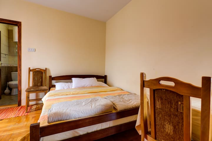 Double Room in Bed and Breakfast Motel Most