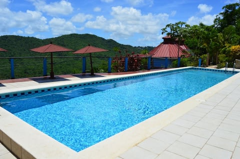 Chateau Mygo Panoramic-amazing view of Marigot Bay