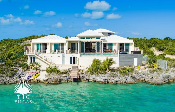 TC Villas // Caicos Cays Villa -Luxury Waterfront
