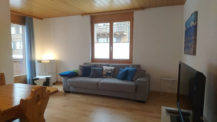 Gemütliche Wohnung im Zentrum von Mürren.