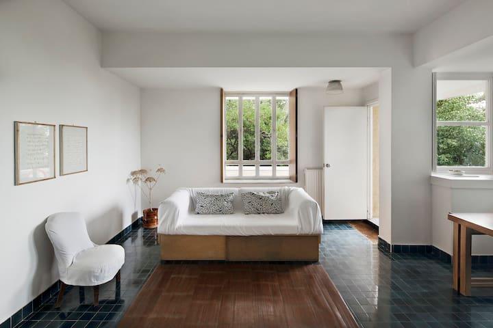 Il soggiorno con il divano-letto