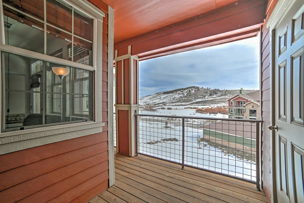 You'll love private views of the foothills from the balcony.