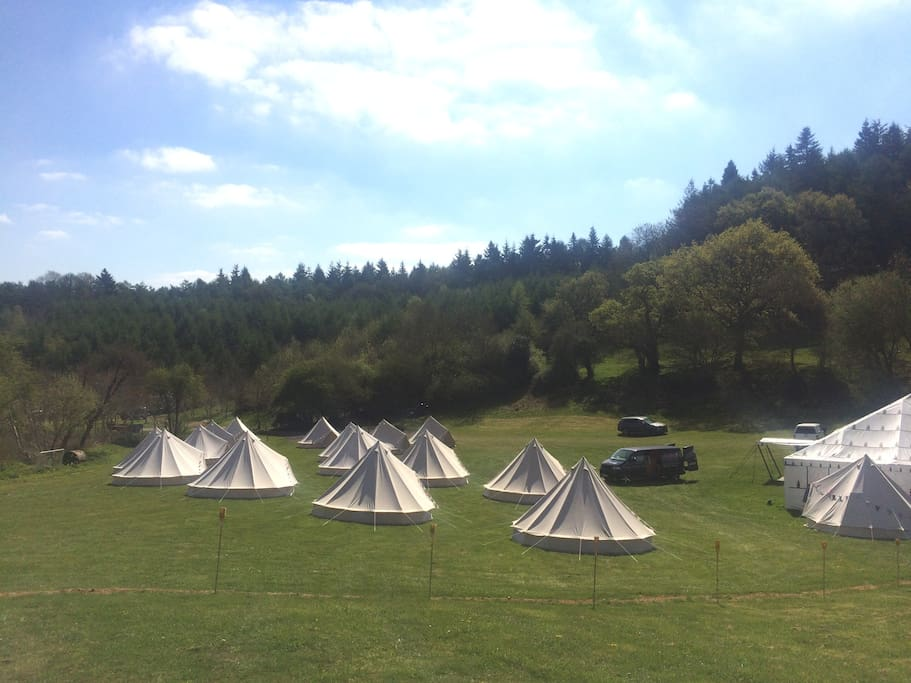 You can bring your own tent or get Boutique Bell to provide tents at extra cost