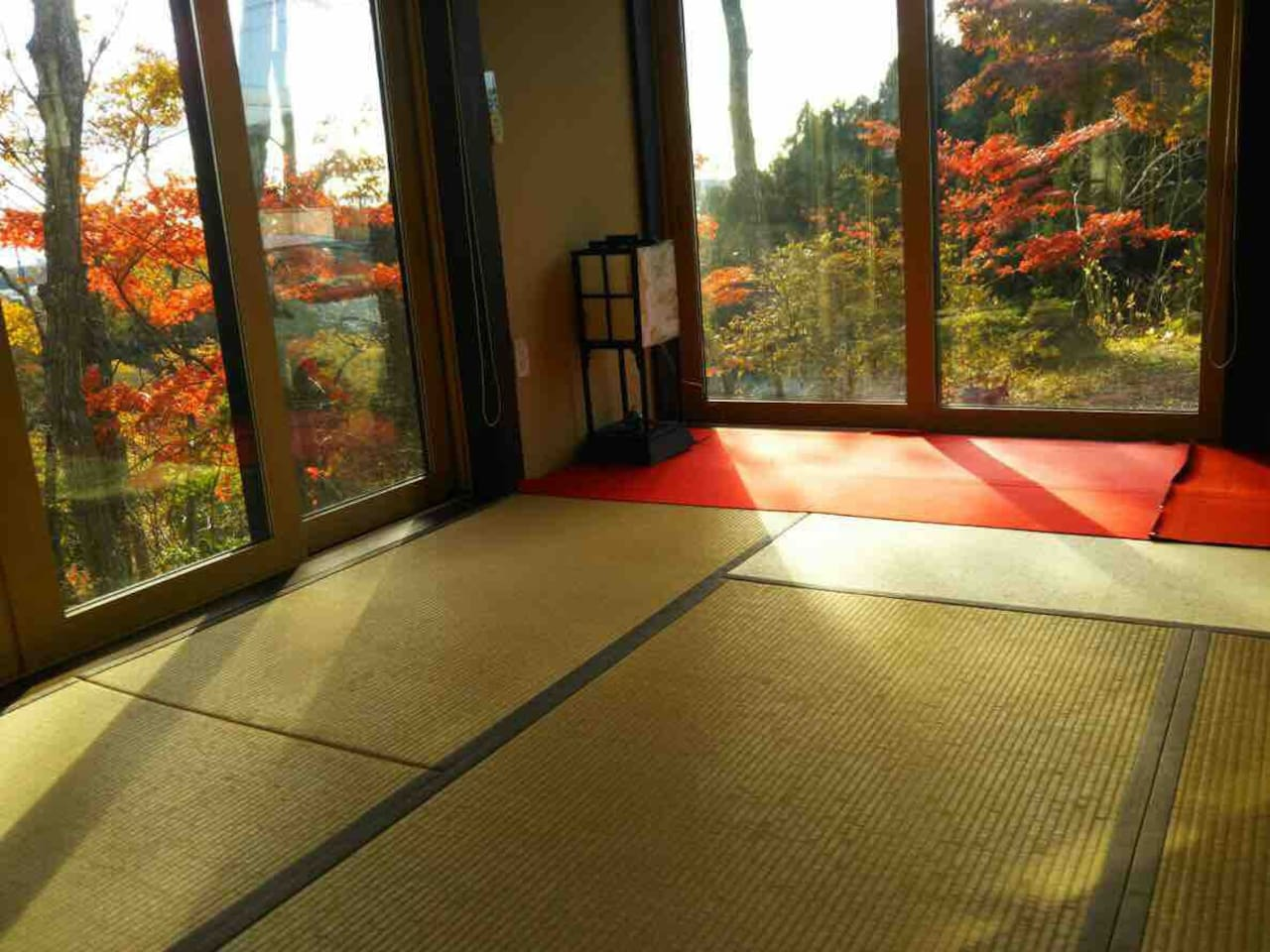 紅葉を眺めながら過ごせる和室 You can enjoy this nice view in Autumn.