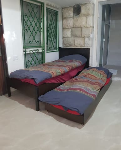 The open roll out bed.