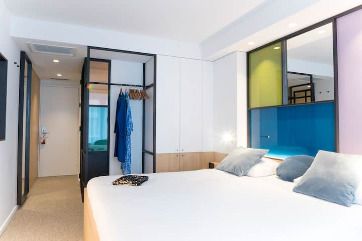 Hotelkamer new design in centrum Knokke