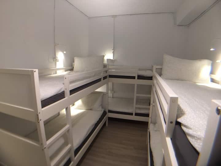 瑞芳六人家庭房/乾濕分離衛浴/上下舖/獨立空間/3分鐘到瑞芳火車站