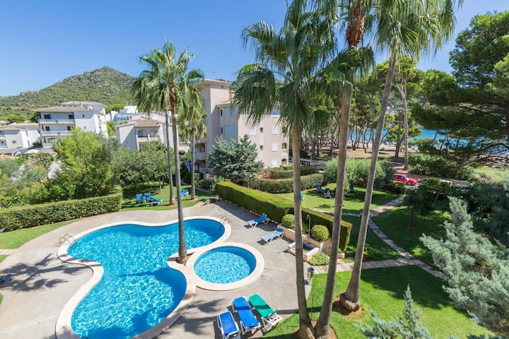 ORO DEL MAR BLOQUE D BAJOS A - Apartment with shared pool near the beach Free WiFi