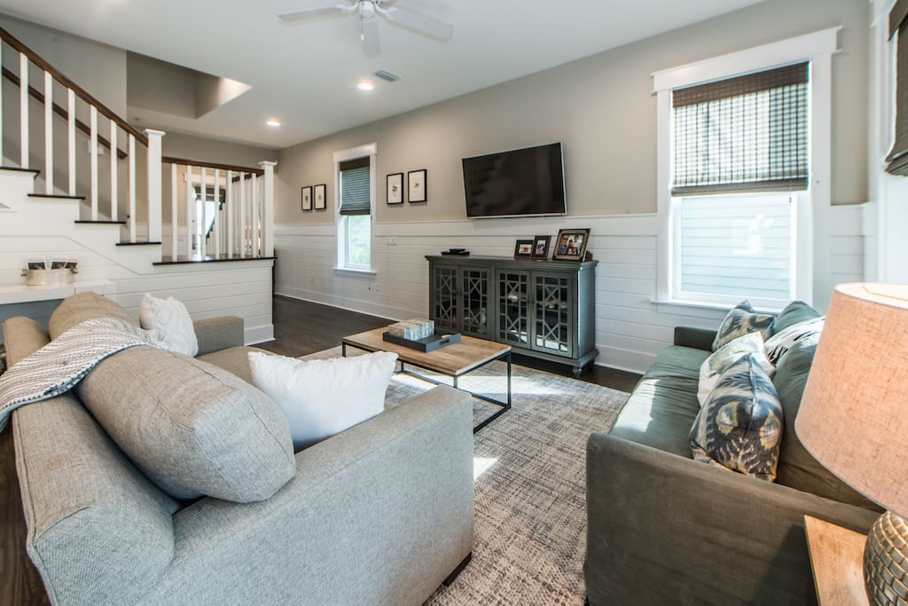 Downstairs Living Room and Shiplap Walls