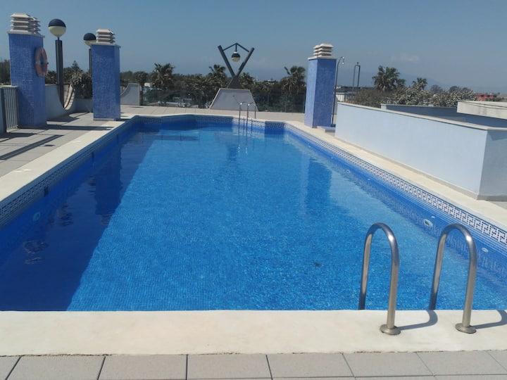 Apartamento nuev 2 hab con  piscina DELTA DEL EBRO