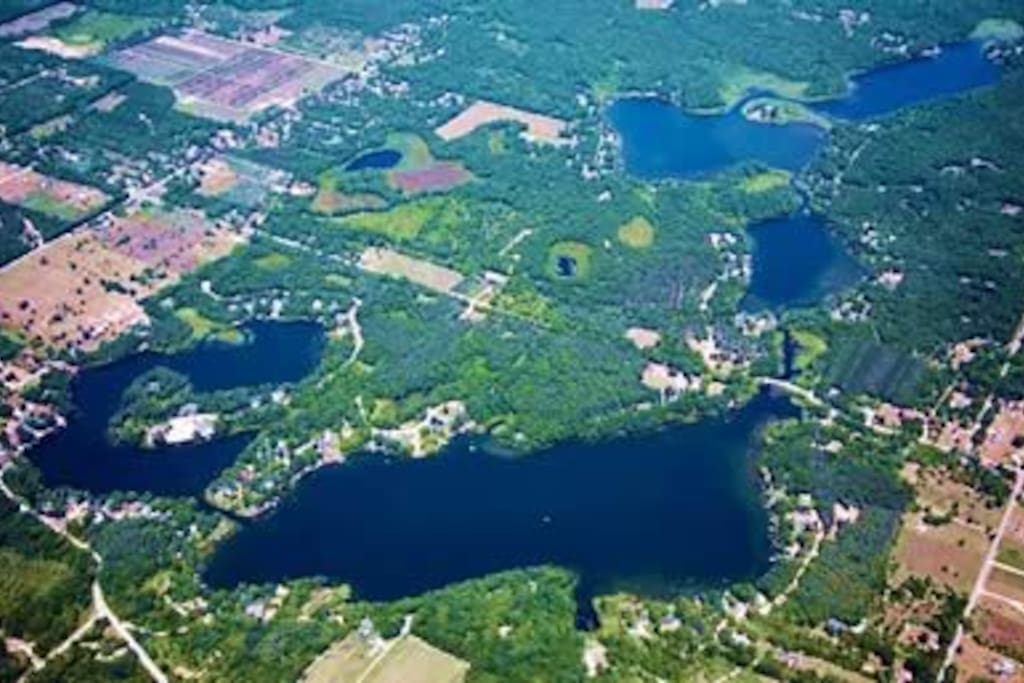 Aerial View of the chain of lakes!