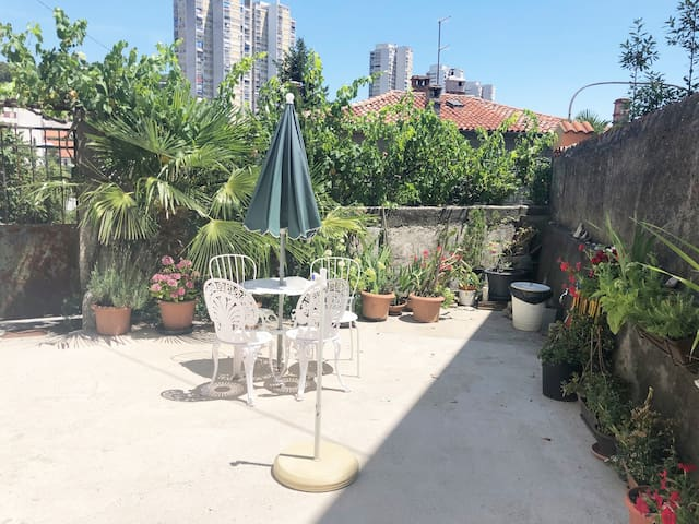 Amazing City Center Apartment  With a Garden