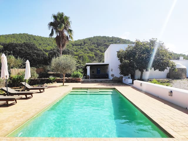 Quite house in the north Ibiza