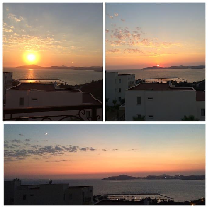 Amazing sunsets, every single day...