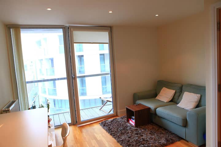Entire 1 double bed flat in Canary Wharf