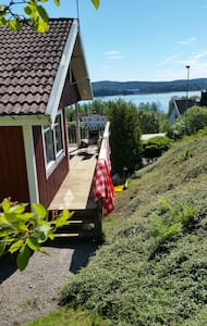 Guesthouse with a beautiful lake view in Dalsland - Casa
