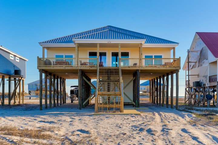 Double Down - Private Bay Beach with Gulf Access! Waterside deck!