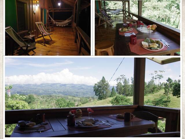 This is the corridor where you can experience breathtaking views of the Turrialba volcano, birds, and the mountains.