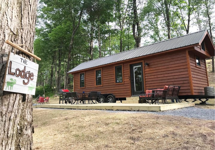 The Lodge- Our Biggest Tiny House sleeps 6-7