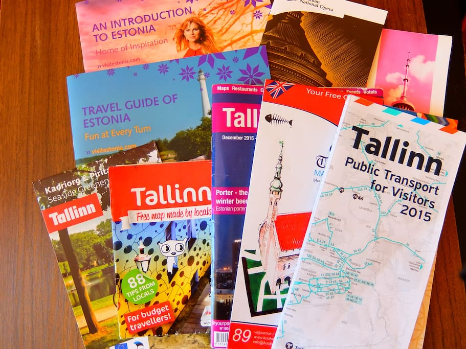We don´t want you to get lost or feel bored - these maps and booklets are for you and you can take these with you.