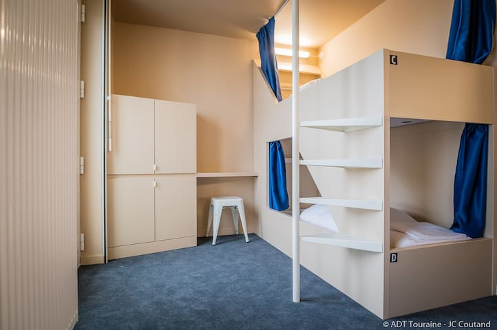Double Room - Bunk Beds in the center of Tours !