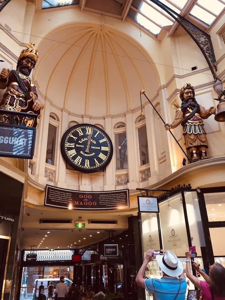 Explore the arcades