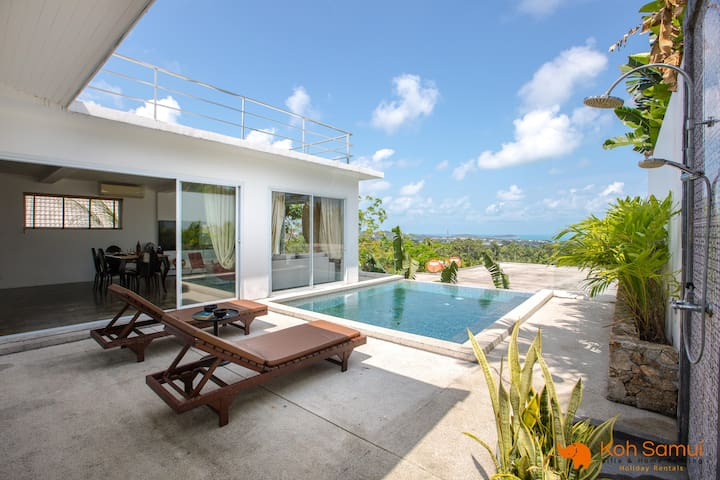 3BR Modern Villa + Private Pool&SeaView CHAWENG