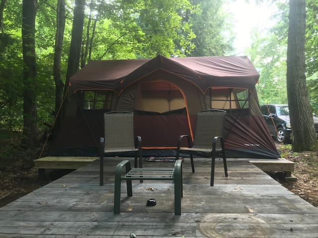Cabin Tent on the river at Sweetwater