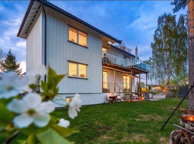 Nydelig hus med stor hage og kort til t-bane