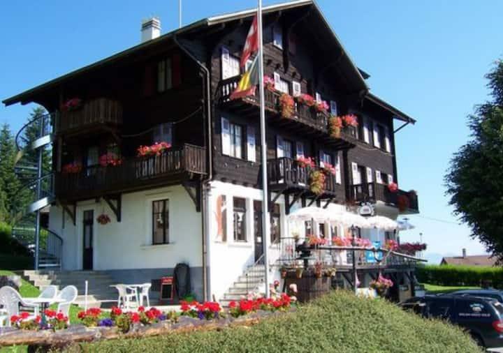 Chambre double à l'hôtel de Torgon
