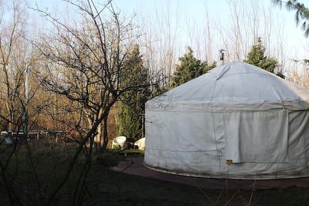 Yurt met natuurgebied de moerputten als tuin - 's-Hertogenbosch - Khemah Yurt