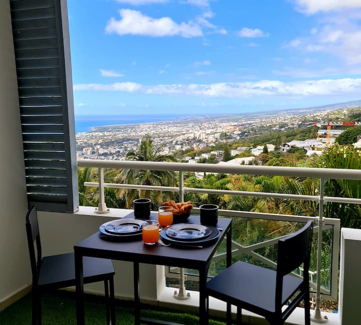 Daytona apartment, exceptional view close to st denis town center