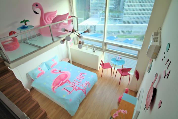 3 Lovely Flamingo# Myeong dong (House rent)Jonggak