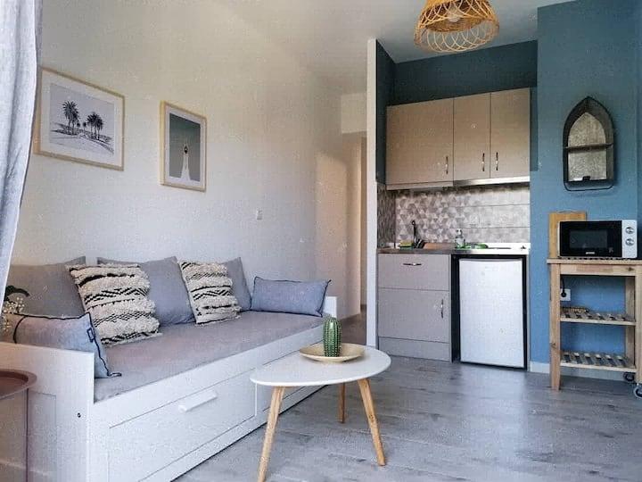 Ολόκληρο ανακαινισμένο διαμέρισμα. Blue apartment