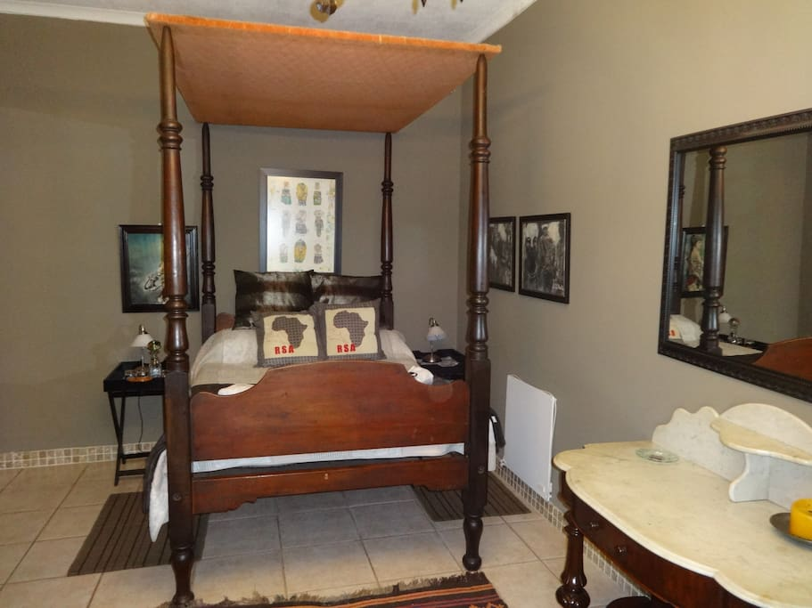 Nearly 300 year old canopy bed and wash table