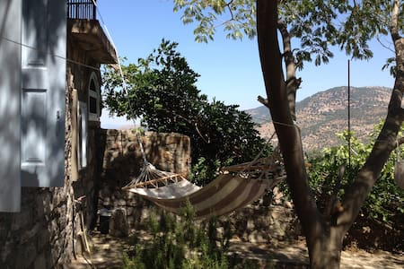 """Am Alex"" Traditional Stonehouse with view - Lafionas - Ev"