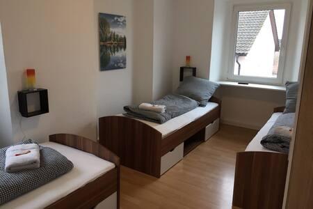Schöne Wohnung bis 8 Personen. 3 Zimmer buchbar! - Schallstadt - Appartement