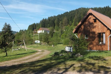 Chalet on a campsite