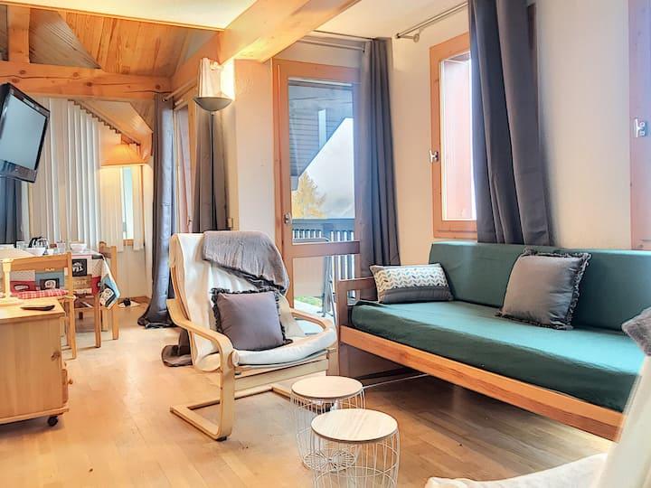 Appartement 68m² - proche pistes - centre Village