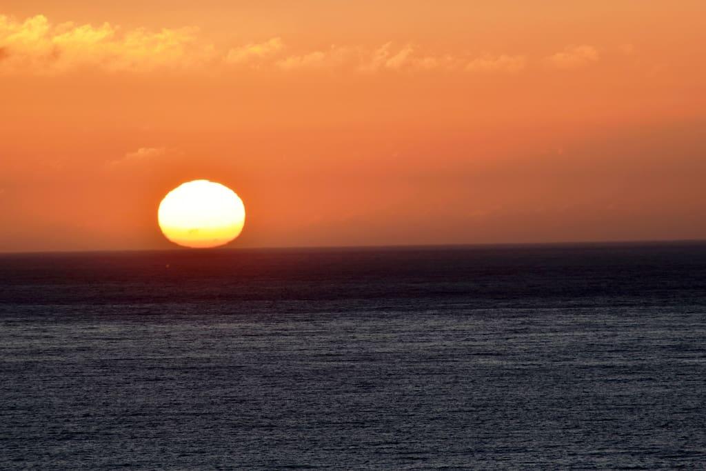 Vista de la puesta de sol