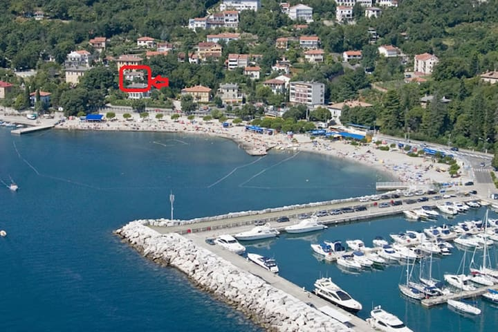 Icici APARTMENT ŽIGANTO ZORAN 50 m from beach - Ičići - Daire