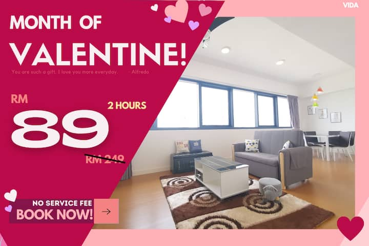 VD1 COUPLE RETREAT HOURLY RATE 2HR ONLY RM89!