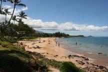 Kamaole II beach is just beyond Kamaole I beach
