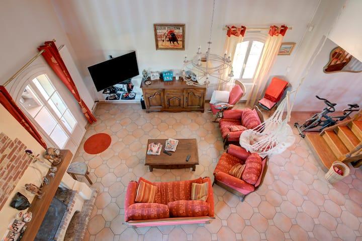 Maison spacieuse avec vue Pyrenées