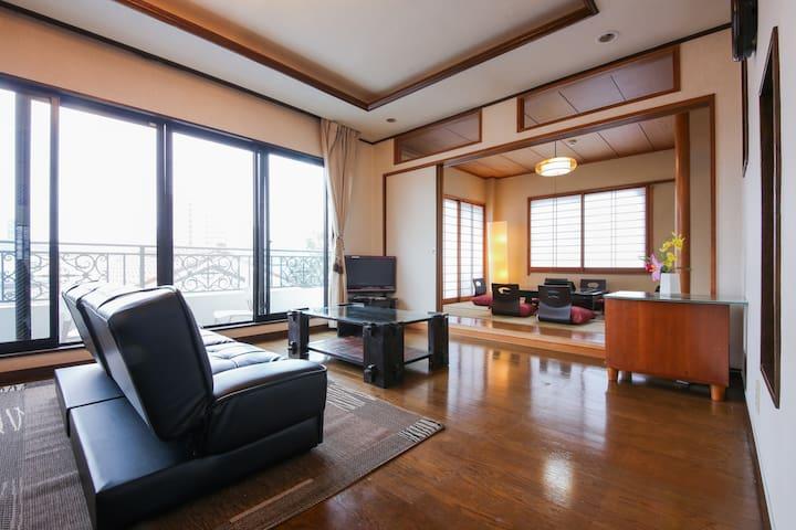 Lux:Great view Penthouse near Shinjuku 10 pe OK! - Shinjuku-ku - Rumah
