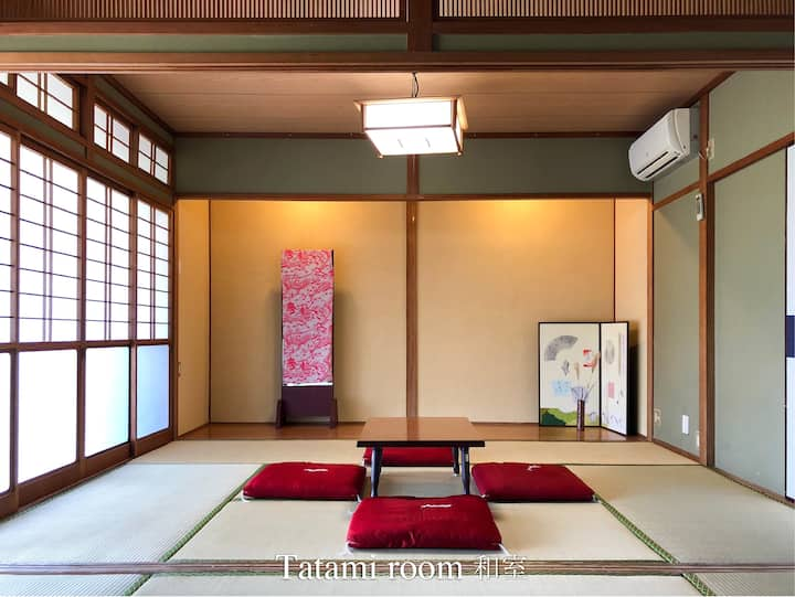 2 Tatami room & Double room traditional  house